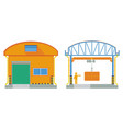 warehouse building cross section factory vector image