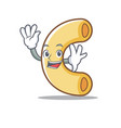 waving macaroni character cartoon style vector image vector image