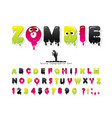 zombie halloween font jelly slim colorful letters vector image vector image