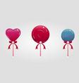 cute cartoon lollypops set vector image