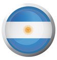 isolated flag of argentina vector image