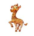 Giraffe cartoon concept vector image