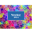 abstract colorful spot background vector image vector image