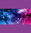 abstract low poly banner design vector image vector image