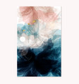 abstract template in floral style deep blue pink vector image vector image