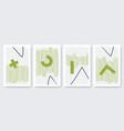 abstract trendy strokes line symbols set vector image