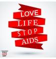 AIDS ribbon symbol vector image