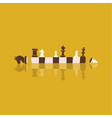 banner with chess pieces on a chessboard a poster vector image