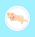 bashower greeting card kid lying on back play vector image vector image