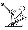 biathlon man icon outline style vector image vector image