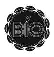 Bio label icon in black style isolated on white vector image vector image
