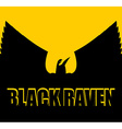 Black raven on yellow background Big Bird Spread vector image
