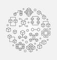 blockchain round line minimal vector image vector image