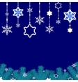 Border of snowflakes vector image vector image