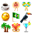Brazil icons set vector image vector image