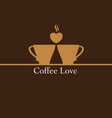 coffee love logo vector image