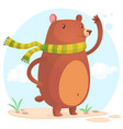 cute cartoon bear character vector image vector image