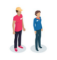 delivery man manager uniform vector image