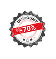 discount stamp grunge sale sticker design shopping vector image