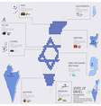 Dot And Flag Map Of State of Israel Infographic vector image vector image