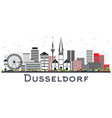 dusseldorf germany city skyline with color vector image vector image
