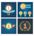 First second and third placed awards vector image vector image