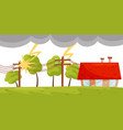 flat scene with small living house vector image