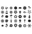 flower icon set simple style vector image vector image