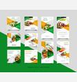 food social media post intagram stories template vector image vector image