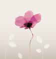 geometric flower lotus with te vector image
