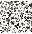 hand drawn doodle floral seamless pattern vector image