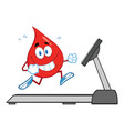 healthy blood drop cartoon character vector image vector image