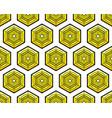 hexagonal element pattern vector image vector image