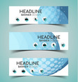 horizontal banner set5 vector image