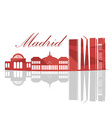 Isolated Madrid Skyline vector image vector image
