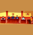 judges at court hearing vector image vector image