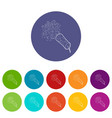 little petard icons set color vector image