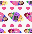 Lovers at the table Seamless pattern Valentine s vector image