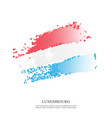luxembourg flag with halftone effect vector image