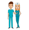 medical staff avatars characters vector image vector image