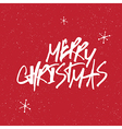 merry christmas snowflakes lettering vector image vector image