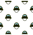 military metal helmet pattern flat vector image vector image