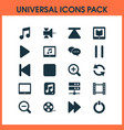 multimedia icons set with pause top fast forward vector image vector image