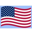 National political official US flag on a white vector image