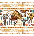 Native Americans Seamless Pattern vector image vector image