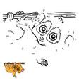 numbers game pygmy slow loris vector image vector image