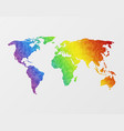 polygonal world map vector image vector image