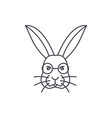 Rabbit head line icon sign