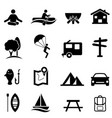 recreation activities and leisure icons vector image vector image