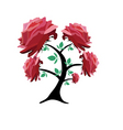 rose tree vector image vector image